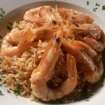 A very aromatic ginger and shrimp risotto