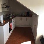 cramped galley kitchen (mind you head)