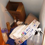 Junk filled cupboard in my room at The Dragon Inn (31/Aug/16).