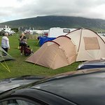 Plenty of space and a great atmosphere in Keel Sandybanks Caravan and Camping