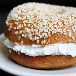 Fresh Bagel with cream cheese