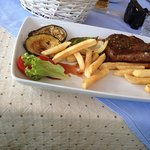 steak and chips, should have taken the seafood grill