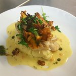 Supreme of cod with chanterelles