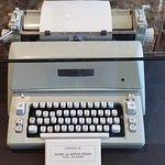 Cherokee typeface on a typewriter