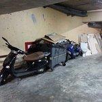 parking moto payant souterrain de l'hôtel