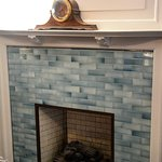 Blue Room - Decrative Fireplace