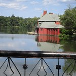 The boathouse at Roger Williams Park.