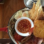 Had the big brekky, served in a cast iron fry pan, Great Idea, fantastic meal, well presented, H