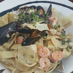 Seafood papperadelle