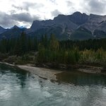 We walked a trail along the Bow River