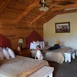 Comfy beds, understated cowboy decor