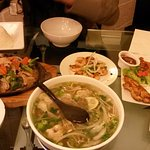 Pho, sizzling chicken and satay