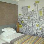 Desenho na parede do quarto - mapa da cidade