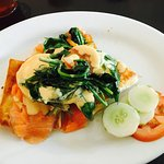 Eggs Benedict!  Best meal I had in Saipan.   Puff pastry with smoked salmon for breakfast.  Wish