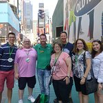 End of the tour photo at Times Square!!