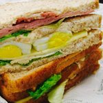 ham/egg/cheese/lettuce sandwich