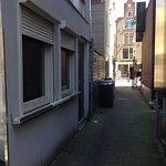 Here's a photo of the alley in the other direction.