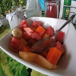 Always have a fresh fruit bowl for breakfast.