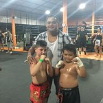 My Kru :) Super delighted to see him wrap and massage opponents gloves, fighting against his own