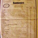 Burgers on the menu