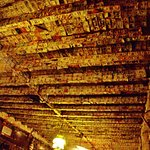 ceiling covered with paper money