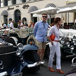 Touristenatraktion vor dem Hotel Schwanen