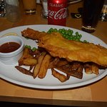 Haddock and Chips with homemade ketchup.