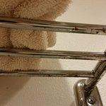 mold/mildew/rust underside of towel rack