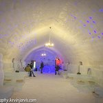 Inside Hotel of Ice Balea Lac ROmania