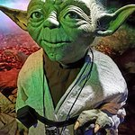One of the original Yoda puppets