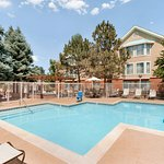 Outdoor seasonal pool at the Homewood Suites by Hilton Boulder Hotel