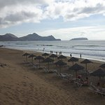 just the beach; reserve loungers for up to a week if you can; bar very close