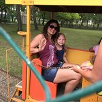 Daughter and granddaughter at company picnic.