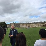 Andrew Butterworth sharing his knowledge of Bath with the group