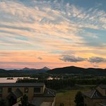 Sunset view of Lake Dillon from our condo