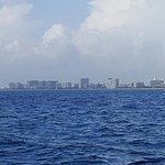 The view from the dive boat of the Pompano Beach Skyline
