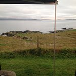 Lovely views out to sea from our campervan!