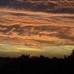 Aussicht aus unserem Fenter auf den Sonnenuntergang