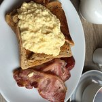 Lovely breakfast. The best bacon I've even had. Good price too.