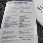 Margarita Menu