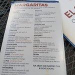 Margarita Menu