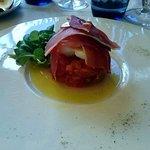Carpaccio de tomates mozza au jambon de parme