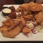 Thick Fried Fish & Fried Oysters Platter