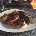 Salmon, shrimp, crab and stuffed shrimp