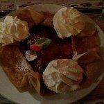 crêpe dessert confiture fraise