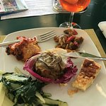 Near pool, great lunch while sipping Aperol Spritz. Can't get better than that!