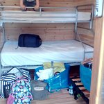 Double bunk with 9 yo child for scale!