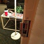 Barely there door lock