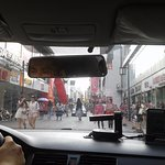 Taxi ride on pedestrian street-Yangor