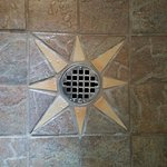 Shower drain detail.
